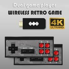 Y2-HD 4K HDMI uyumlu Video oyunu konsolu dahili 568 Retro iki oyun Mini kablosuz kontrol çıkışı çift oyuncu