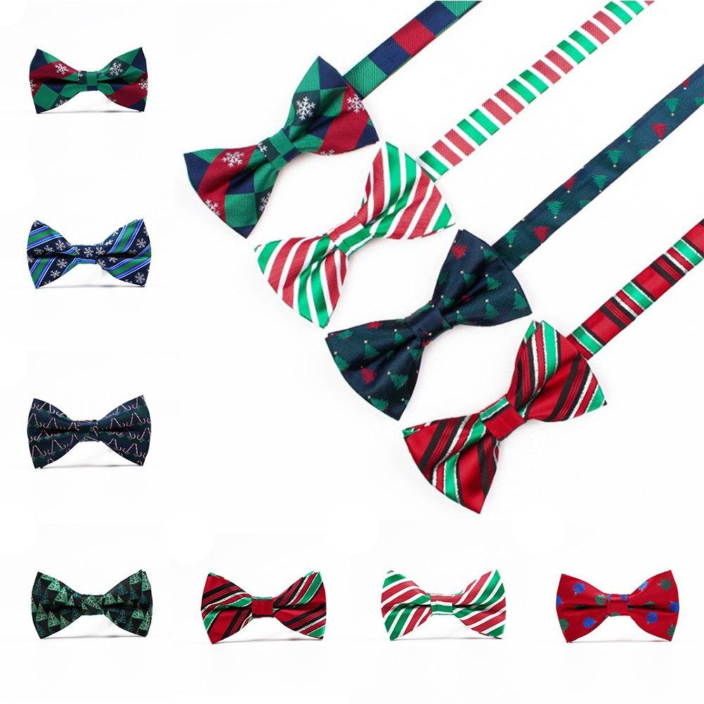 1 шт., новинка, галстуки-бабочки для мужчин, рождественская елка, галстуки-бабочки для мужчин, Свадебный галстук-бабочка, повседневный