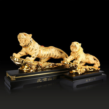 New Style Tiger Model Resin Decoration Auspicious Gifts Living Room Study Office Desktop Decorations Shop Decorations WSHYUFEI
