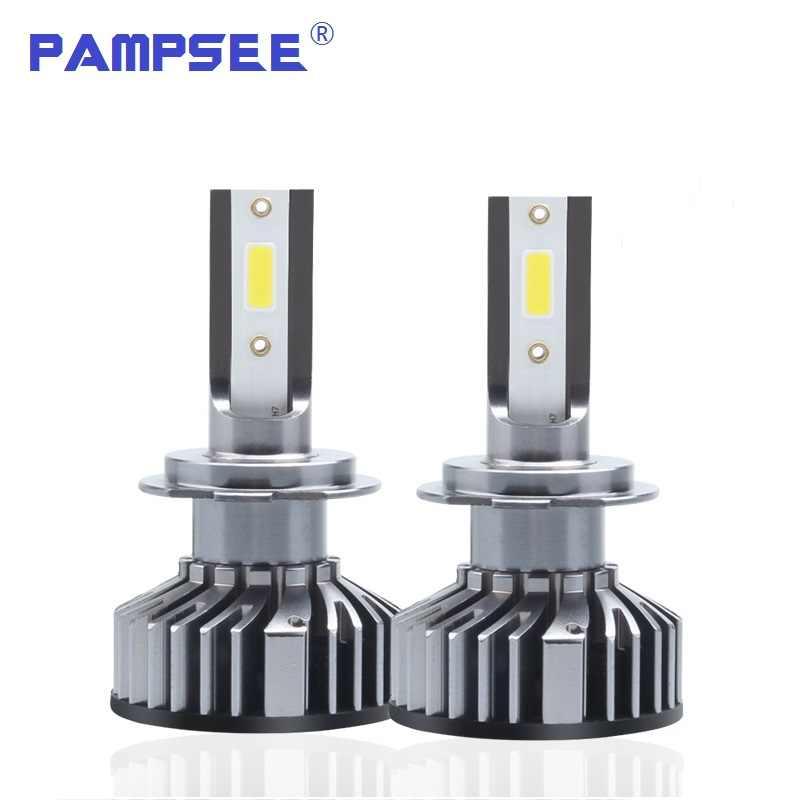 PAMPSEE Auto Faro H7 LED H4 LED H1 H11 H3 H13 H27 880 9006 9007 72W 8000LM 6500K 12V 24V Auto Faro COB Luce di Nebbia Della Lampadina
