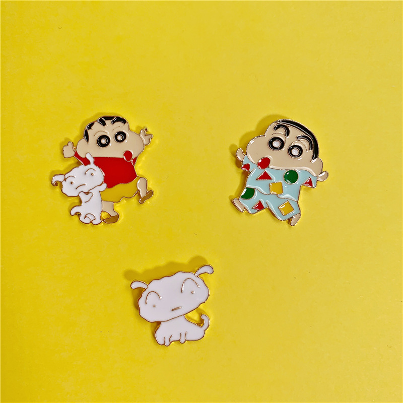 Crayon Shin Chan Brooch Cosplay Cartoon Cute Girl Costumes Accessories Badge Toru Kazama Nohara Himawari Pin