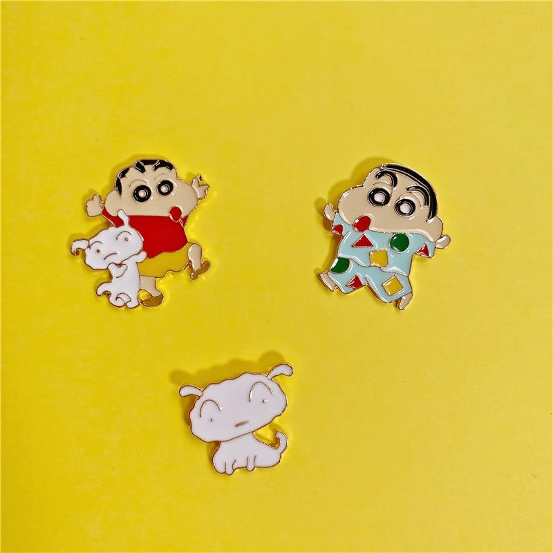 Crayon Shin Chan Brooch Cosplay Cartoon Cute Girl Costumes Accessories Badge Toru Kazama Nohara Himawari Pin