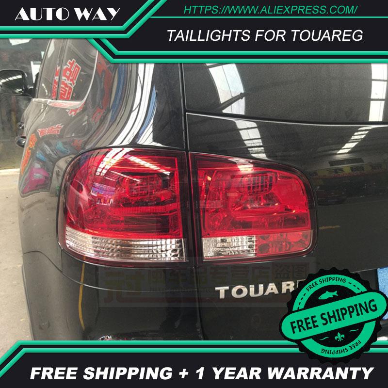 Phares arrière de style de voiture pour VW Touareg feux arrière LED feu arrière couvercle de lampe de coffre arrière drl + signal + frein + marche arrière