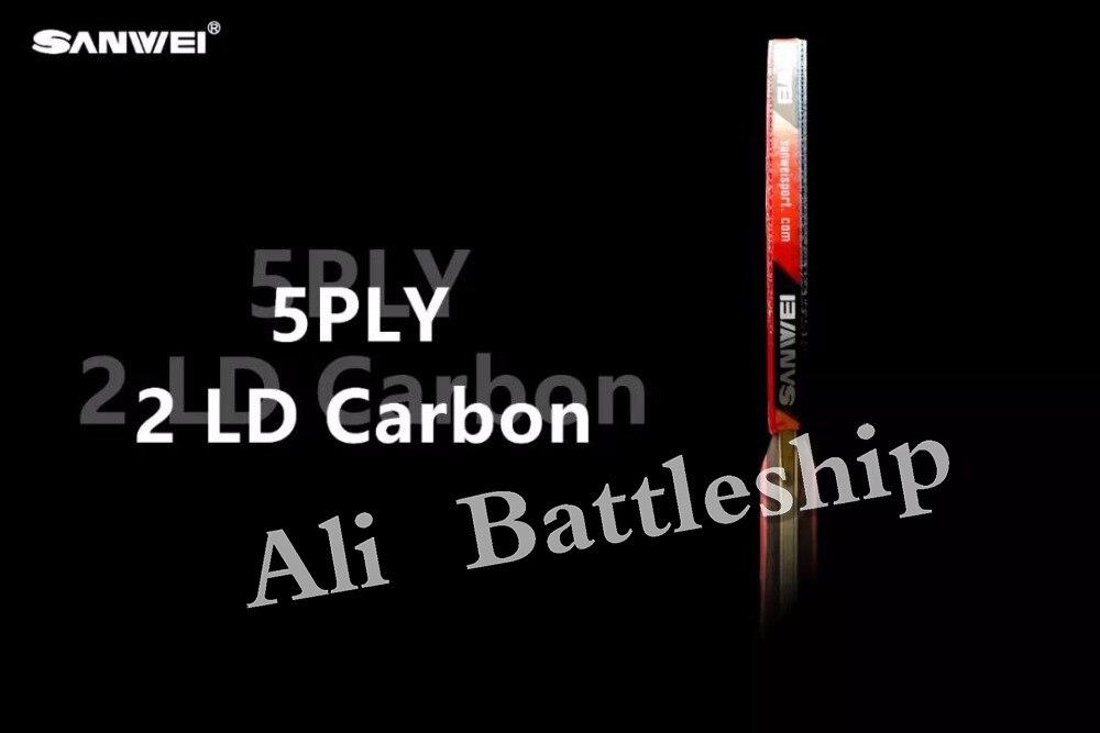 SANWEI CC Carbon Fiber + T88-Taiji Rubber Hand Assemble Table Tennis Racket