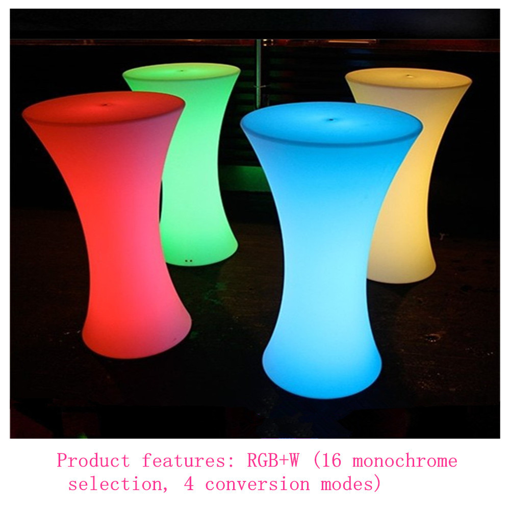 D60XH110 CM Led Illuminated Cocktail Table Rechargeable Coffee Table For Bar Christmas Party Supples Cocktail Table