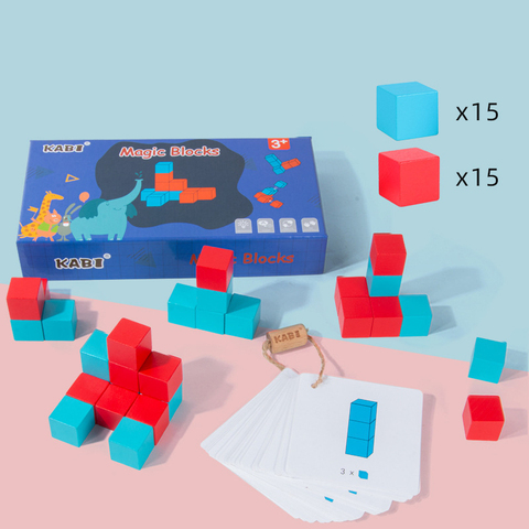 blocos de construcao de madeira cubo brinquedos espacial pensamento colorido espaco educacional das criancas pensamento