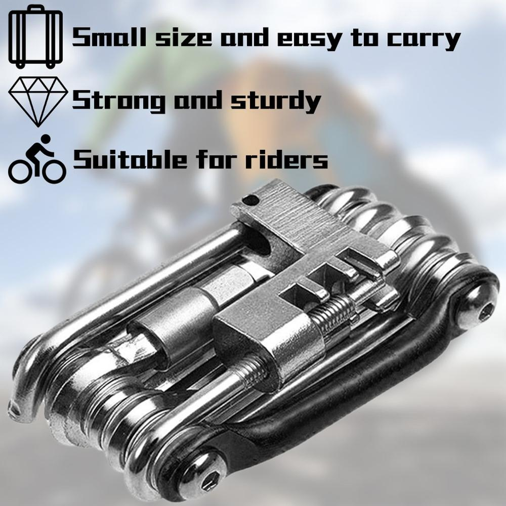 11-in-1 Bicycle Tools Sets Bike Multi Repair Kit Hex Spoke Wrench Screwdriver Carbon Steel Multifunctional Folding Multitools