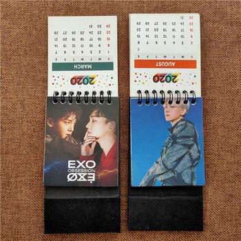KPOP EXO New Album OBSESSION 2020 Calendar Photo Book XIUMIN SUHO LAY BAEKHYUN CHANYEOL KAI FH222