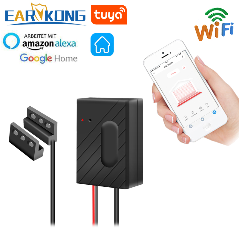 EARYKONG WiFi Garage Door Opener Smart Garage Compatible With Alexa Echo Google Home Smart Life Tuyasmart APP IOS Android USB 5V