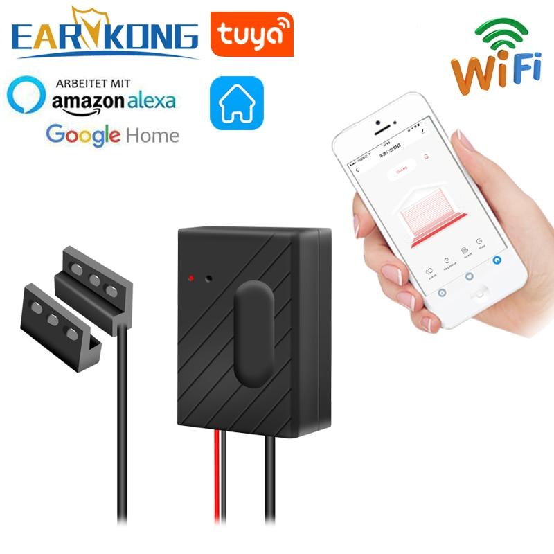 EARYKONG WiFi Garage Door Opener Smart Garage Compatible With Alexa Echo Google Home Smart Life Tuyasmart APP IOS Android USB 5V
