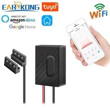 EARYKONG ouvre porte intelligent de Garage WiFi, pour Garage, Compatible avec Alexa Echo Google Home, application Tuyasmart, IOS, Android, USB, 5V