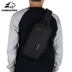 Image 4 - Kingsons New Small Backpack Leisure Travel Single Shoulder Backpack 7.9 inch Chest Backpack For Men Women Casual Crossbody Bag