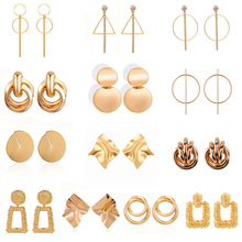 New Fashion Drop Dangle Earrings For Women ZA Geometric Wedding Party Vintage Gifts Bohemian Bijoux