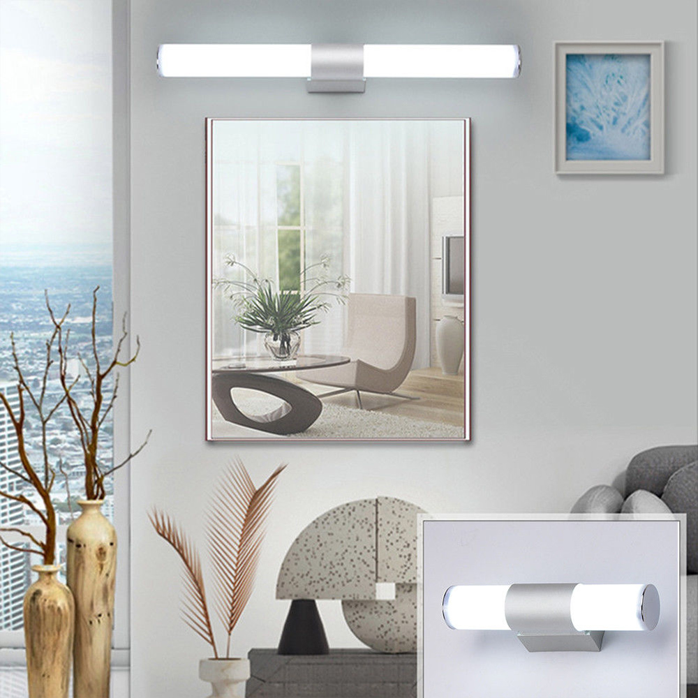 Permalink to Bathroom Vanity LED Kitchen Waterproof Mirror Lamp Acrylic + Aluminum Showers Fixture Night Lights Modern Wardrobe