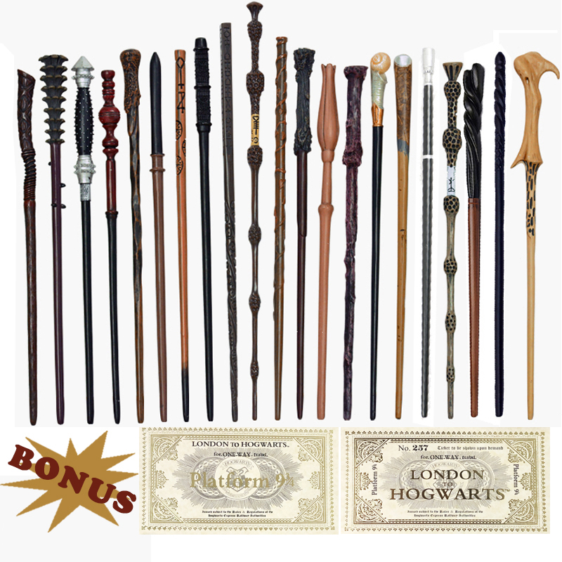 28 Kinds Of Metal Core Potters Magic Wands Cosplay Voldmort Hermione Magical Wand Harried 2 Tickets As Bonus Without Box