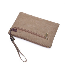 New trendy fashion clutch bag men canvas envelope wear-resistant lightweight Fashion  Solid Day Clutches