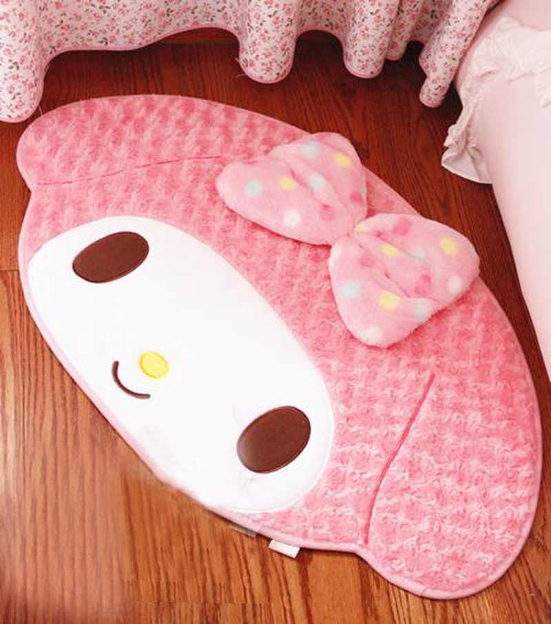 85x50cm My Melody Pudding Hund Anime Weiche Teppiche Hause Dekoration Matte Cartoon Schlafzimmer Boden Fußmatte Bad Plüsch gedruckt Teppich Pad