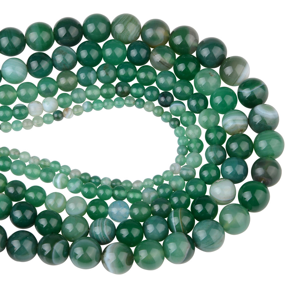 banded agate green