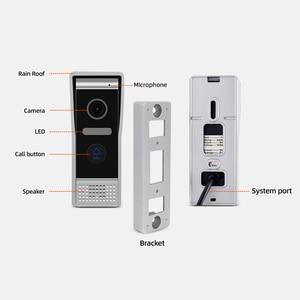 Image 5 - JeaTone 7 inch WIFI IP Video Door Phone Intercom Kit Door Bell Door Speaker Access Control System Touch Screen Motion Detection