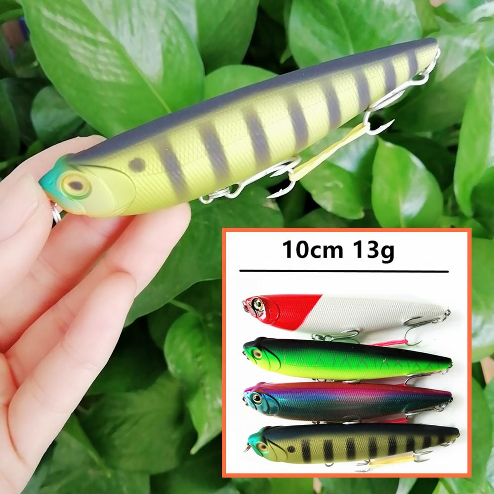Swolfy 1PC 10cm 13g Pencil Fishing Lure Top Water Dogs Wobbler Fishing Tackle Artificial Hard Bait Fishing Tackle Pesca