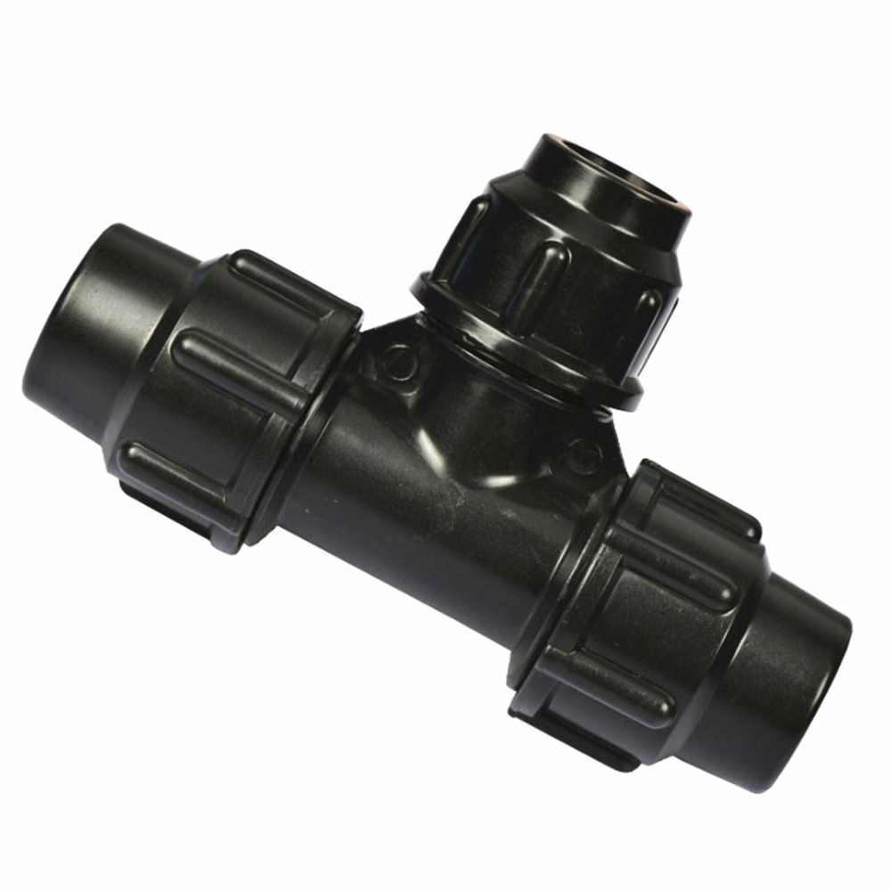 PE Variable Diameter Pipe Fittings Quick Joint Of Water Pipe Tee Tap Pipe Fittings Plastic Pipe Fittings 20/25/32/40/50/63mm