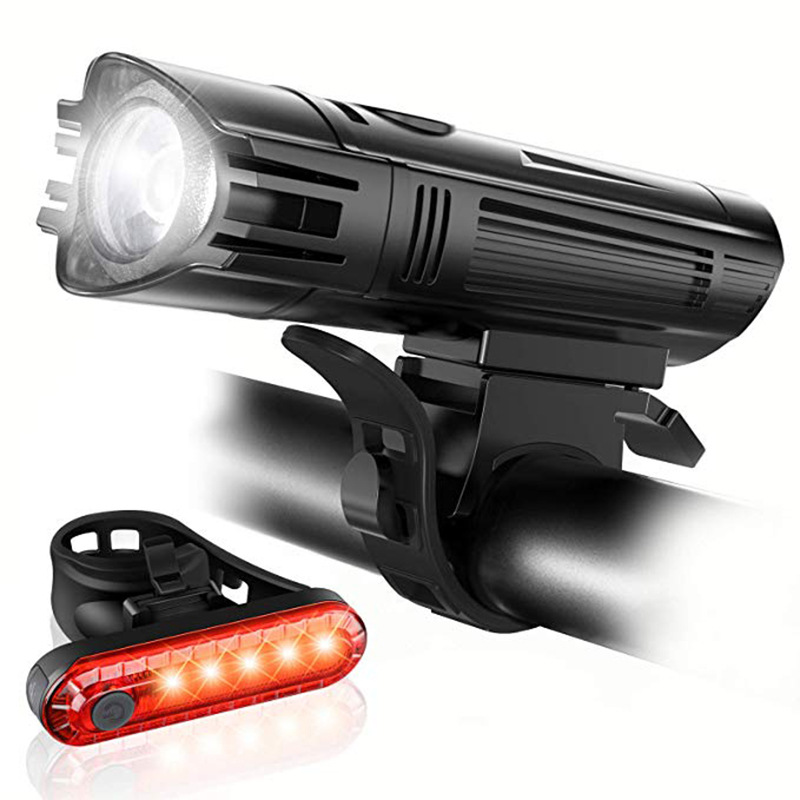 <font><b>15000</b></font> <font><b>Lumens</b></font> T6 LED Bicycle <font><b>Light</b></font> Waterproof USB Rechargeable Front LED <font><b>Bike</b></font> <font><b>Lights</b></font> with Rear <font><b>Light</b></font> image