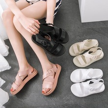 Women summer Flat Sandals casual Soft Jelly Sandals Ladies Slip-on Flat Sandals Gladiator Buckle beach shoes Female if feel summer retro ladies beach sandals roman sandals women sandals fashion gladiator sandals for women shoes female flat