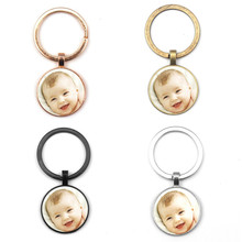 Custom Keychain Photo-Pendants Gift Grandparent Personalizeds Family Loved Dad for Member