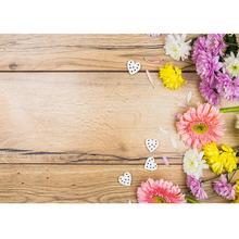 صور خلفية ملونة الزهور لوحة خشبية خلفية مخصصة للأطفال المولود الجديد عشاق التصوير الدعائم Photophone