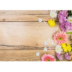 Image 1 - Photo Backdrop Colorful Flowers Wooden Board Custom Background for Children New Born Baby  Lovers Photography Props Photophone