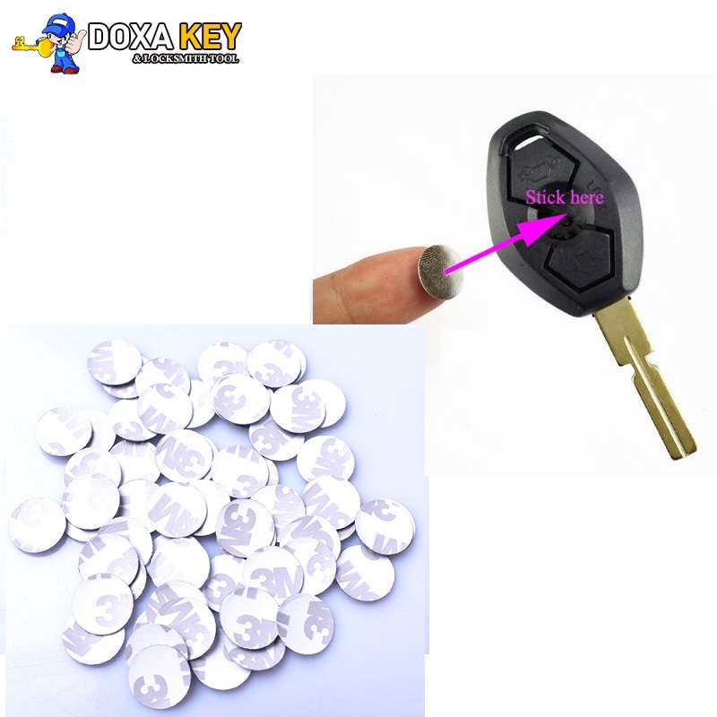 5pcs/lot 14mm Car Key Emblem Sticker Logo For BMW M Fiat Dodge Infiniti Renault Jeep Chevrolet Buick Cadillac Kia