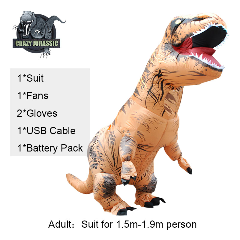 Hot Adult Inflatable Dinosaur Costume T-REX Dinosaur cosplay Costume Halloween Costume For Men Women Party costume suit Clothing