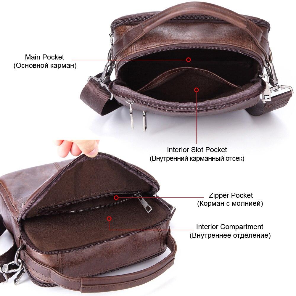 Image 3 - MISFITS Mens Messenger Bag fashion Waterproof zipper leather  shoulder Bag casual multi function business handbag mens NewCrossbody  Bags
