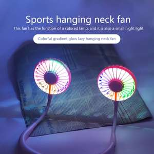 Dual-Fan Lights Usb-2000ma-Battery Hand-Free Mini Rechargeable Sports with Fragrance