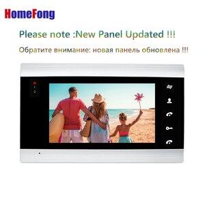 Image 2 - Homefong 7 inç Wifi görüntülü kapı telefonu daire görüntülü interkom sistemi kapı zili 2 düğme IP kablosuz erişim kontrol sistemi