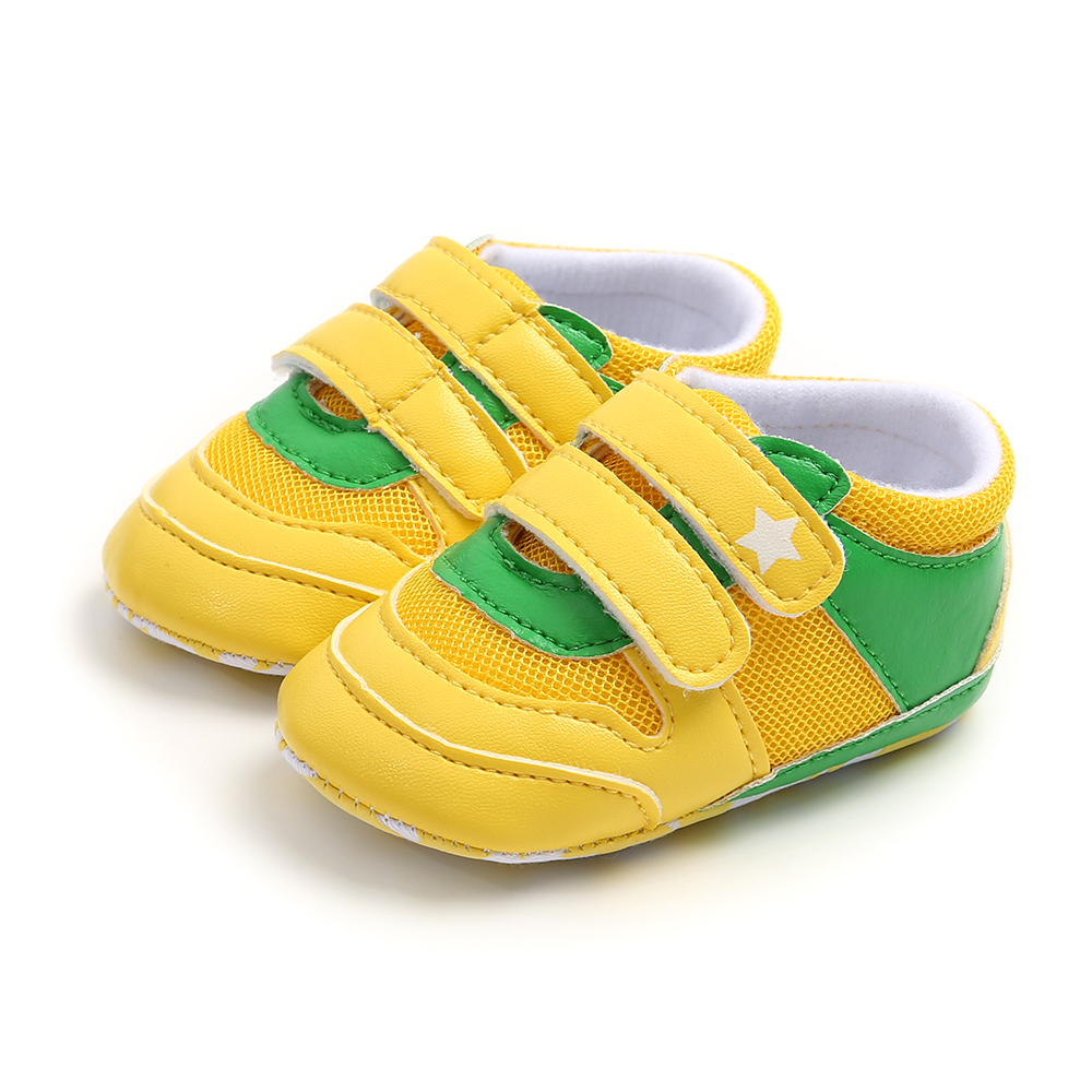 Infant Toddler Baby Boy Girl Shoes Soft Sole 0-6 6-12 12-18M Baby Moccasins Patchwork PU Shoes First Walkers Sport Shoes