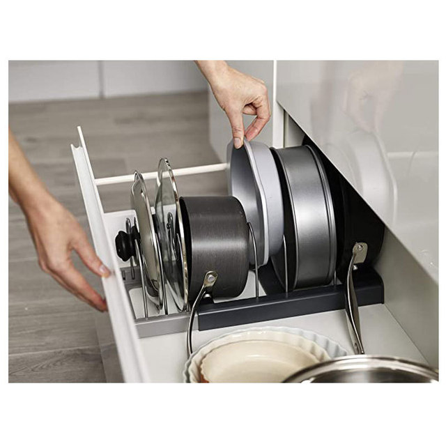 Retractable Pot Lid Rack Stainless Steel Spoon Holder Shelf Cooking Dish Drainer Drying Rack Kitchen Organizer Pan Cover Stand 3