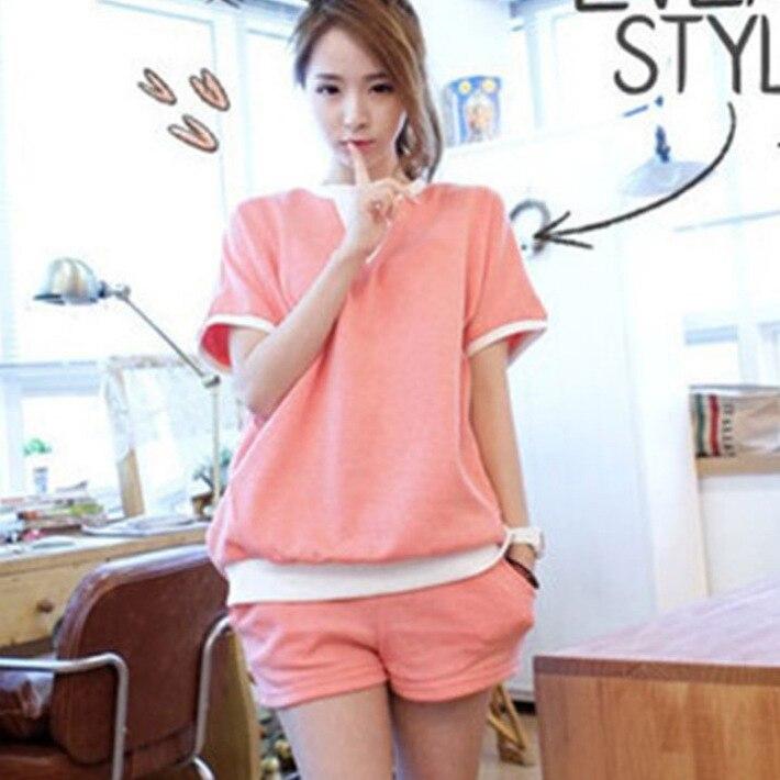 Pajamas Women's Summer Set Short Sleeve Two-Piece Set Korean-style Fresh Students Thin Cartoon Tracksuit