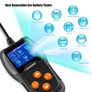 Image 1 - Konnwei KW600カーバッテリーテスター12vデジタルカラー画面自動バッテリーアナライザー100 2000CCAにクランキング充電車診断