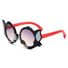 Personality cat cartoon children sunglasses 2020 new girl cute