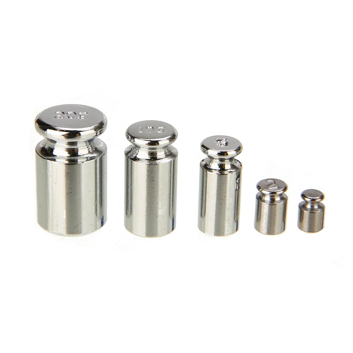 5pcs/set Precision Calibration Set Chrome Plating Scale Weights Set 1g 2g 5g 10g 20g Grams For Home Tool