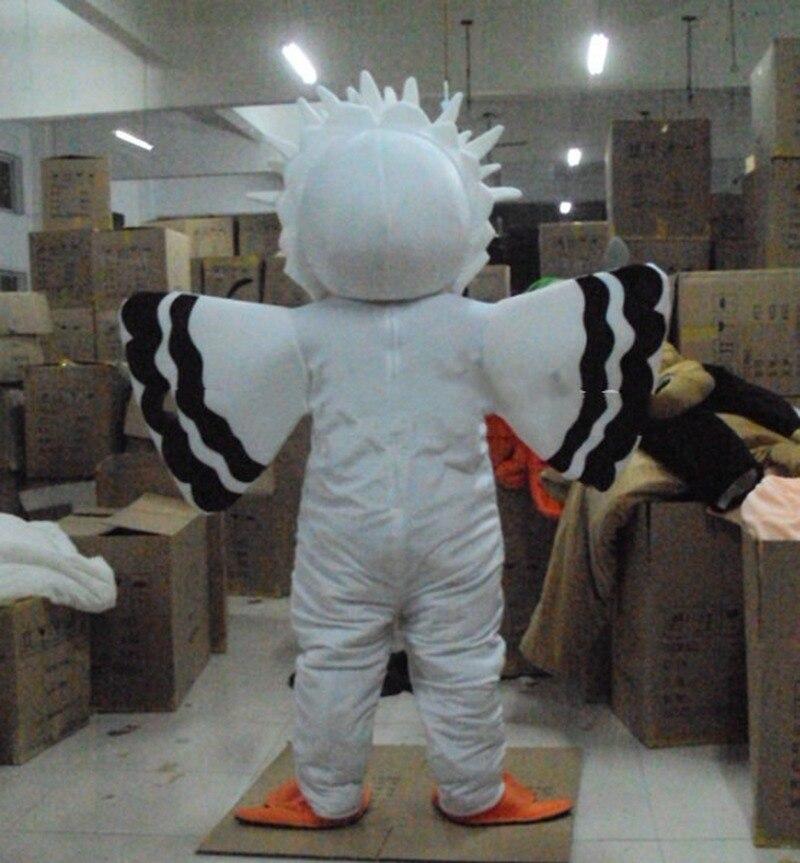 Nouveau Costume de mascotte blanc gros oiseau aigle costumes Cosplay partie jeu robe publicité vêtements intéressants personnage de dessin animé vêtements - 2