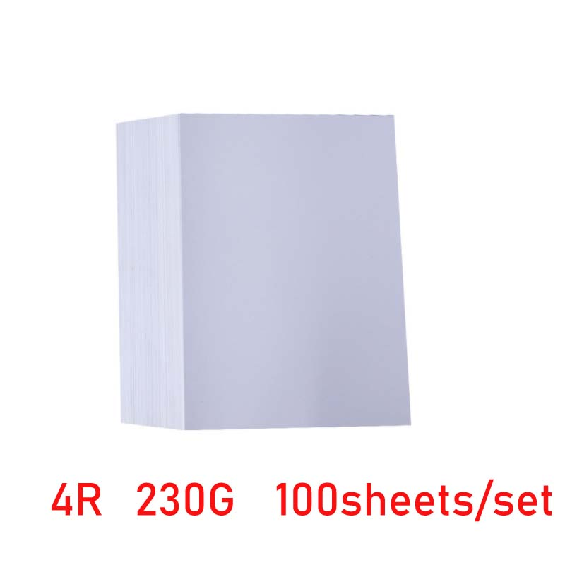 Photo Paper 3R 4R,5R,A4,A6 100 Sheets High Glossy Printer Photographic Paper Printing for Inkjet Printers Office Supplies 3