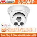 Hikvision совместимая 5MP купольная POE ip-камера 8MP CCTV камера видеонаблюдения ColorVU IR 30 м ONVIF H.265 P2P Plug & play Security IPC