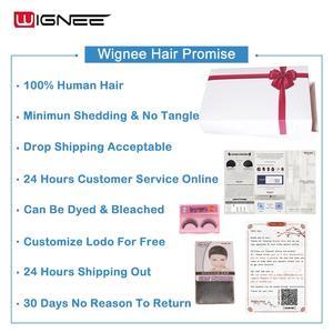 Image 5 - Wignee 4 × 4 のレースの閉鎖実体波人毛ウィッグ黒人女性自然な髪の 150% 高密度グルーレスレースフロント人間のかつら