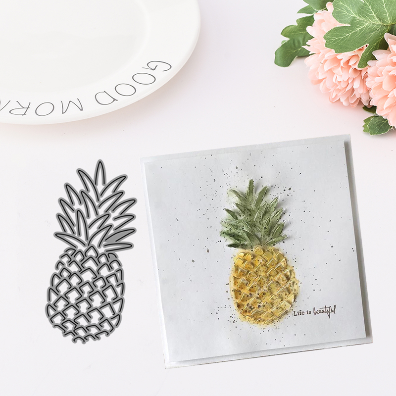 Metal Cutting Dies Fruit pineapple Cut die for Scrapbooking Craft DIY Album Embossing Folder Stencils Maker Photo Template Decor in Cutting Dies from Home Garden