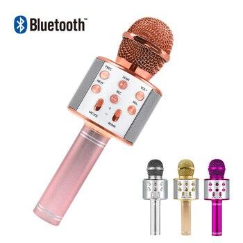 Bluetooth Karaoke Microphone Wireless Microphone Professiona Speaker Handheld  Microfone Player Singing Recorder outdoor led lights wireless microphone professional karaoke bluetooth microphone studio player singing recorder handheld microfone mic 1