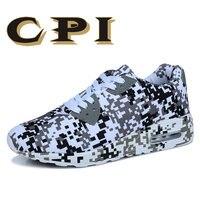 CPI Brands 2018 Nova Outono Homens Sapatos de Lona Lace-up Sapatos Casuais Leves Moda Camuflagem Mocassins Calçado Masculino ZY-09