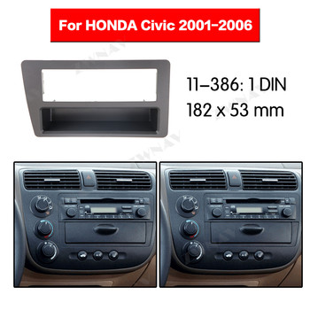 Car multimedia Player frame For 2001 2002-2006 Honda Civic 1 DIN Auto AC Black LHD RHD Auto Audio Radio stereo GPS NAVI fascia image