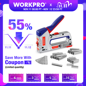 Image 1 - WORKPRO 4 IN 1 Heavy Duty Staple Gun for DIY Home Decoration Furniture Stapler Manual Nail Gun with 4000 Staples Nailer